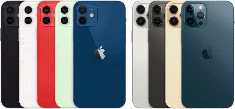 iPhone 12 color lineup.