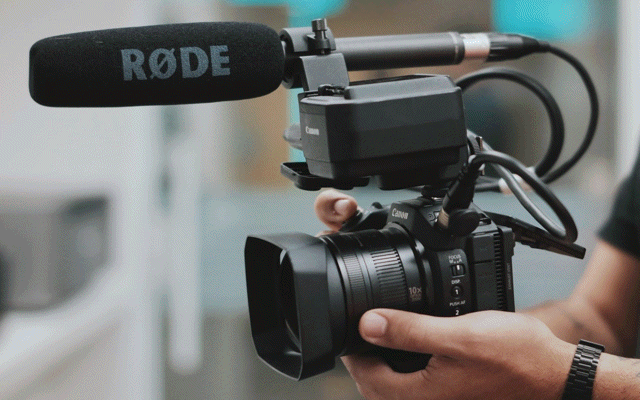 Camera with Microphone.